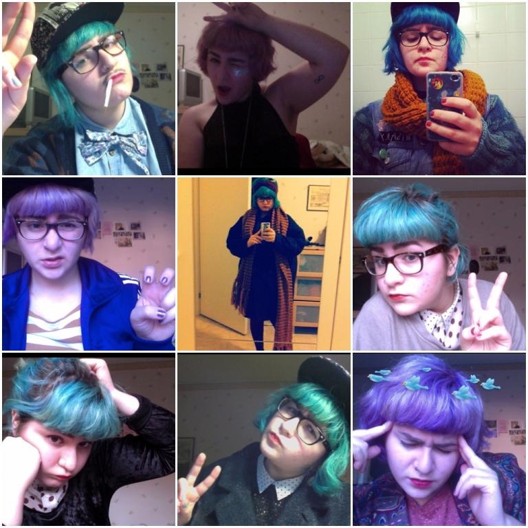 Diese Selfies entstanden übrigens alle diesen Herbst.